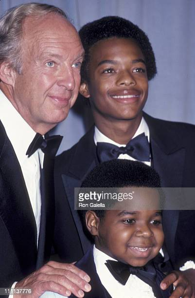Actor Conrad Bain Todd Bridges and Gary Coleman attend 33rd Annual Primetime Emmy Awards on September 13 1981 at the Pasadena Civic Auditorium in...