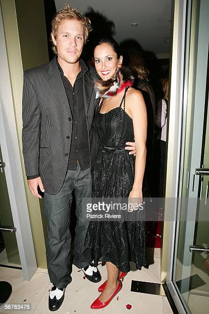 Actor Conrad Colby attends with friend Leanne Lloyds the 2006 Nokia L'Amour Fashion Collection at the Hilton Hotel on February 8 2006 in Sydney...
