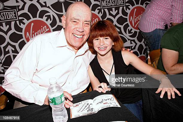 "Actor Conrad John Schuck and actress Amanda Balon attend the ""Annie: The 30th Anniversary Cast Recording"" CD signing on June 4, 2008 at Virgin..."