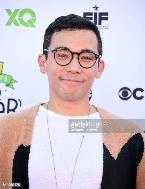 Actor Conrad Ricamora arrives at the EIF Presents XQ Super School Live event at The Barker Hanger on September 8 2017 in Santa Monica California