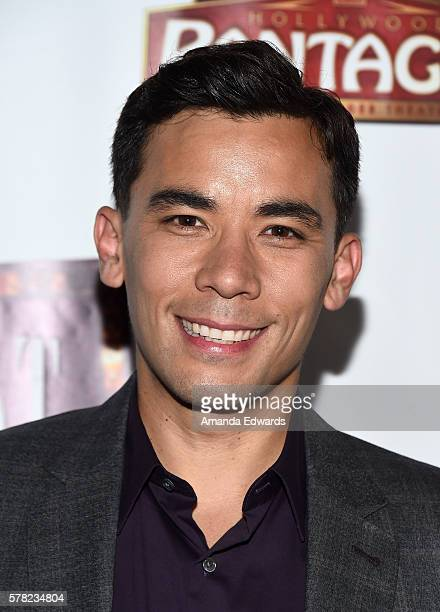 Actor Conrad Ricamora arrives at the opening of Cabaret at the Hollywood Pantages Theatre on July 20 2016 in Hollywood California