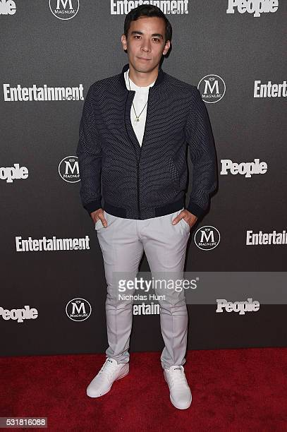 Actor Conrad Ricamora attends the 2016 Entertainment Weekly People New York Upfronts VIP Party at Cedar Lake on May 16 2016 in New York City