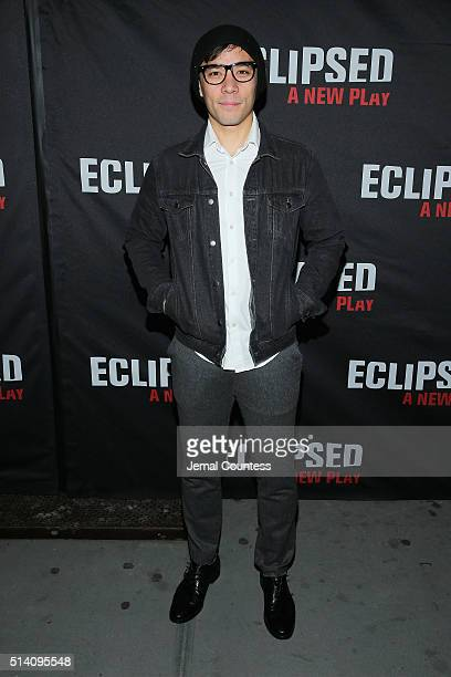 Actor Conrad Ricamora attends the Eclipsed broadway opening night at The Golden Theatre on March 6 2016 in New York City