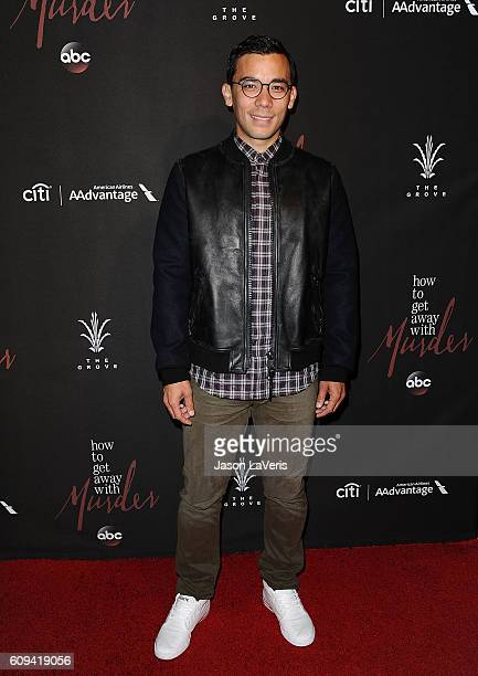 Actor Conrad Ricamora attends the season 3 premiere of How To Get Away With Murder at Pacific Theatre at The Grove on September 20 2016 in Los...