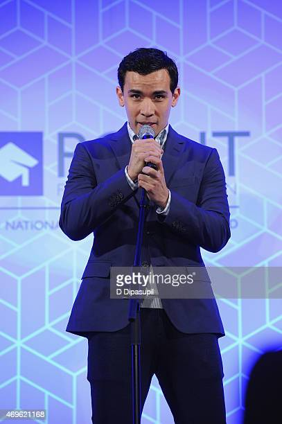 Actor Conrad Ricamora performs onstage at The Point Foundation's Annual Point Honors New York Gala at New York Public Library on April 13 2015 in New...