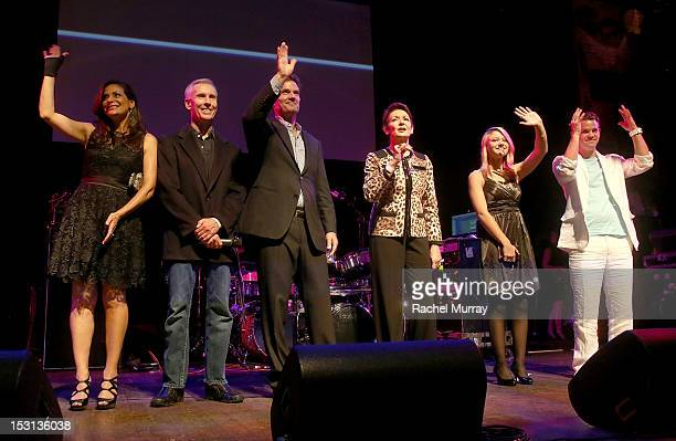 Actor Constance Marie, producer Paul Stupin, actors D.W. Moffett, Ivonne Coll, Ashley Fiolek, and Ryan Lane of ABC's Switched at Birth on stage...