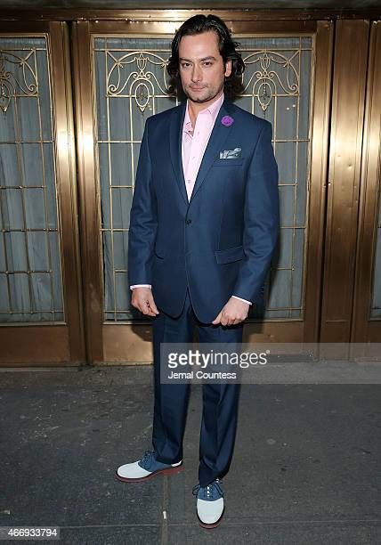 Actor Constantine Maroulis attends 'The Heidi Chronicles' Broadway Opening Night at The Music Box Theatre on March 19 2015 in New York City