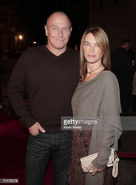 Actor Corbin Bernsen and his wife actress Amanda Pays arrive at the premiere of Warner Bros Picture's Rails Ties at the Steven J Ross Theater on the...