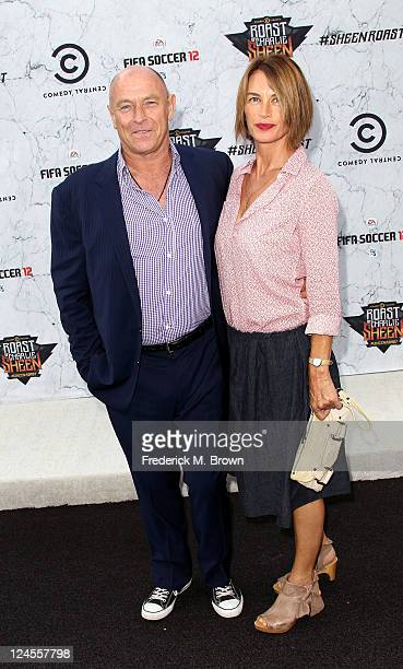 Actor Corbin Bernsen and his wife Amanda Pays arrive at Comedy Central's Roast of Charlie Sheen held at Sony Studios on September 10 2011 in Los...