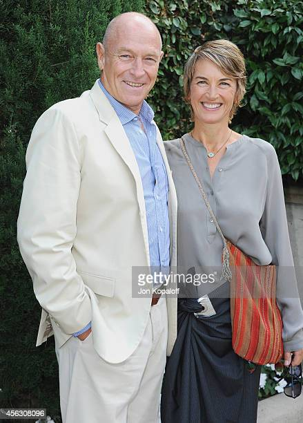 Actor Corbin Bernsen and wife actress Amanda Pays arrive at The Rape Foundation's Annual Brunch at Ron Burkle's Green Acres Estate on September 28...