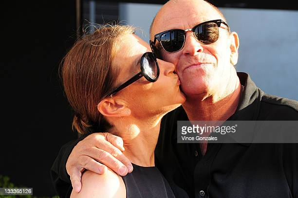 Actor Corbin Bernsen and wife Amanda arrive at Ace Gallery on May 14 2009 in Los Angeles California