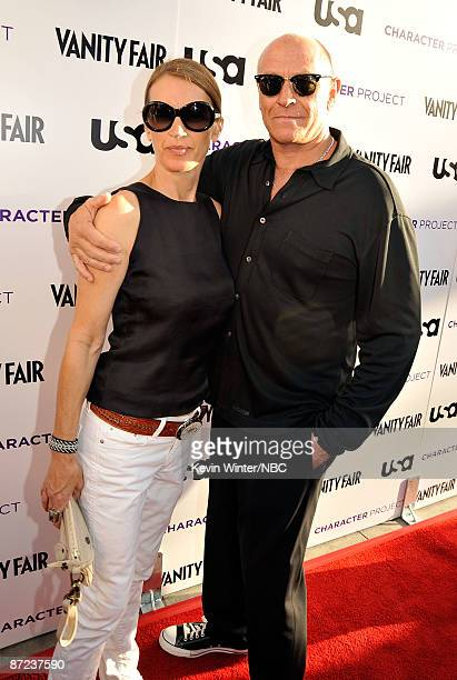 Actor Corbin Bernsen and wife Amanda Pays arrive at USA Network and Vanity Fair Celebrate Character Project held at Ace Gallery on May 14 2009 in Los...