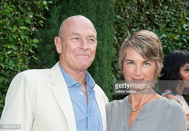 Actor Corbin Bernsen and wife Amanda Pays arrives at The Rape Foundation's Annual Brunchat Greenacres The Private Estate of Ron Burkle on September...