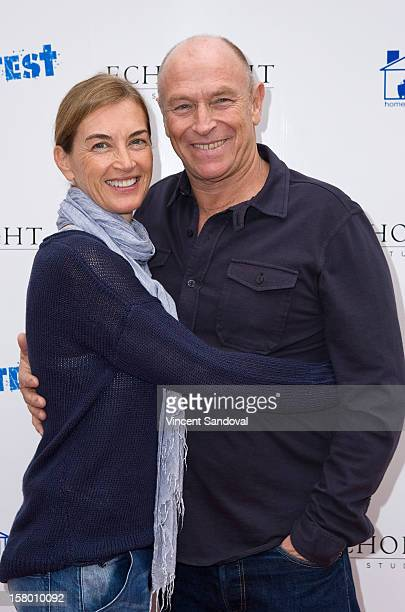 Actor Corbin Bernsen and wife Amanda Pays attend the Los Angeles Premiere of 3 Day Test at Downtown Independent Theatre on December 8 2012 in Los...