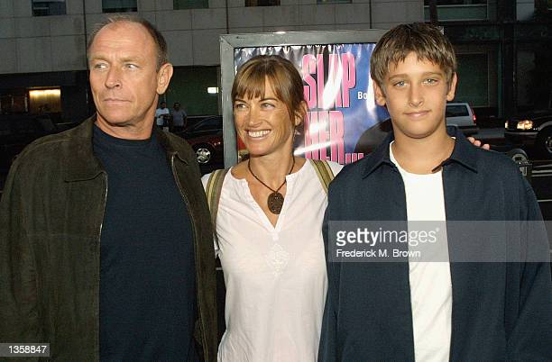 Actor Corbin Bernsen his wife Amanda Pace and their son attend the film premiere of Slap Her She's French at the Academy of Motion Pictures Arts and...