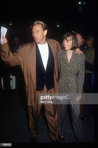 Actor Corbin Bernsen poses with his wife Amanda Pays at a Cirque du Soleil benefit show October 9 1992 in Santa Monica CA Costing $50 to $10000 a...
