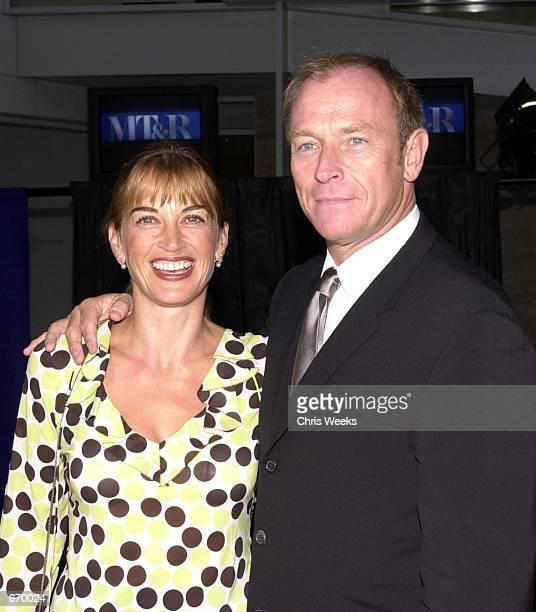 Actor Corbin Bersen and wife Amanda Pays arrive at ''The Museum of Television and Radio's Annual Gala'' where actor Kelsey Grammer Grammer and...
