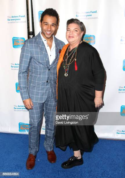 Actor Corbin Bleu and actress Mindy Cohn attend The Actors Fund's 2017 Looking Ahead Awards honoring the youth cast of NBC's This Is Us at Taglyan...
