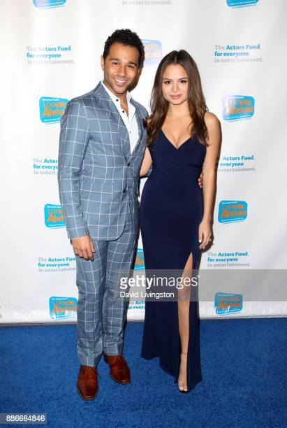 Actor Corbin Bleu and actress Sasha Clements attend The Actors Fund's 2017 Looking Ahead Awards honoring the youth cast of NBC's This Is Us at...