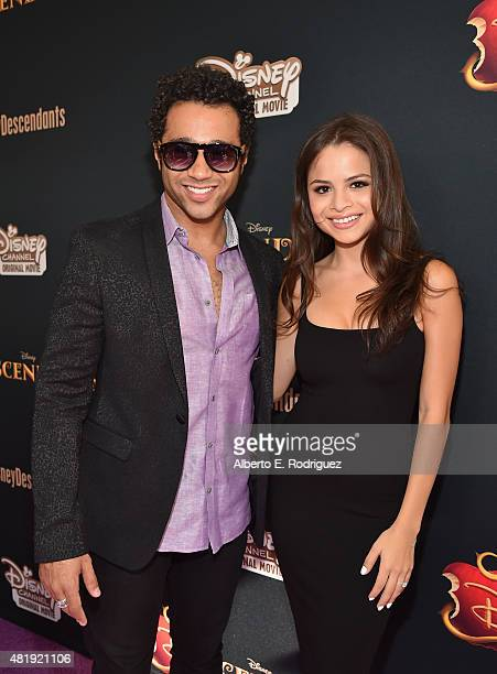 Actor Corbin Bleu and Sasha Nicole Clements attend the premiere of Disney Channel's 'Descendants' at Walt Disney Studios on July 24 2015 in Burbank...
