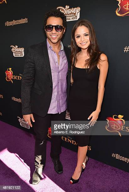 Actor Corbin Bleu and Sasha Nicole Clements attend the premiere of Disney Channel's Descendants at Walt Disney Studios on July 24 2015 in Burbank...
