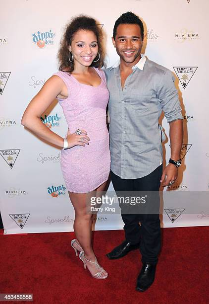 Actor Corbin Bleu and sister Hunter Reivers arrive at Blake Michael's 18th Birthday on Riviera 31 on August 9 2014 in Beverly Hills California