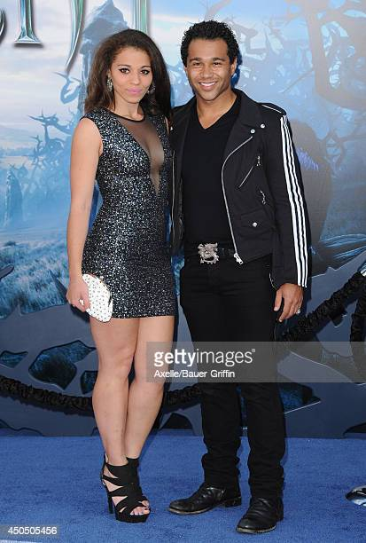 Actor Corbin Bleu and sister Hunter Reivers arrive at the World Premiere of Disney's 'Maleficent' at the El Capitan Theatre on May 28 2014 in...