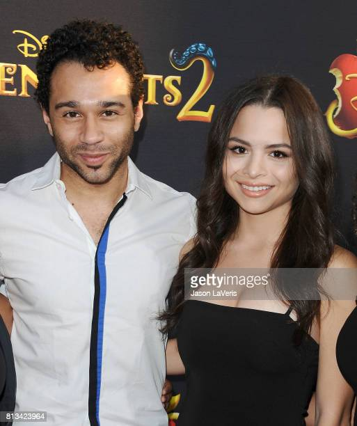 Actor Corbin Bleu and wife Sasha Clements attend the premiere of 'Descendants 2' at The Cinerama Dome on July 11 2017 in Los Angeles California