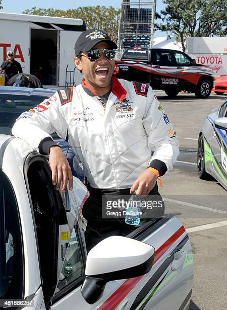 Actor Corbin Bleu arrives at press day for the 2014 Toyota Pro/Celebrity Race on April 1 2014 in Long Beach California