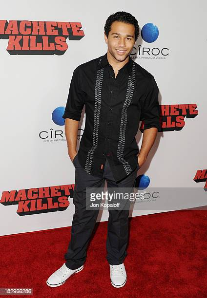 "Actor Corbin Bleu arrives at the Los Angeles Premiere ""Machete Kills"" at Regal Cinemas L.A. Live on October 2, 2013 in Los Angeles, California."