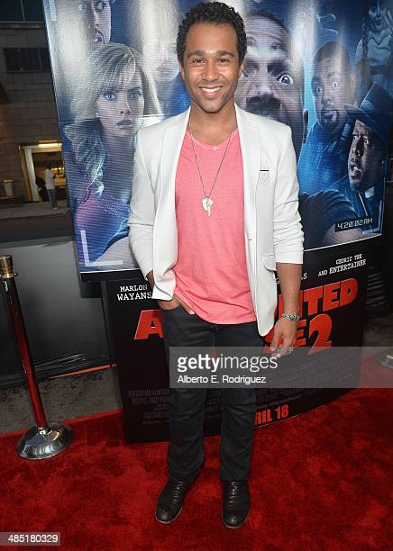 Actor Corbin Bleu arrives to the premiere of Open Road Films' A Haunted House 2 at Regal Cinemas LA Live on April 16 2014 in Los Angeles California