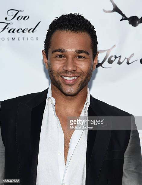 Actor Corbin Bleu attends For Love and Lemons annual SKIVVIES party cohosted by Too Faced and performance by The Shoe at The Carondelet House on July...