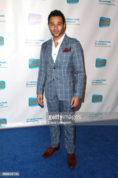 Actor Corbin Bleu attends The Actors Fund's 2017 Looking Ahead Awards honoring the youth cast of NBC's This Is Us at Taglyan Complex on December 5...