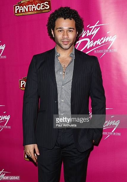 Actor Corbin Bleu attends the opening night of 'Dirty Dancing The Classic Story On Stage' at the Pantages Theatre on February 2 2016 in Hollywood...