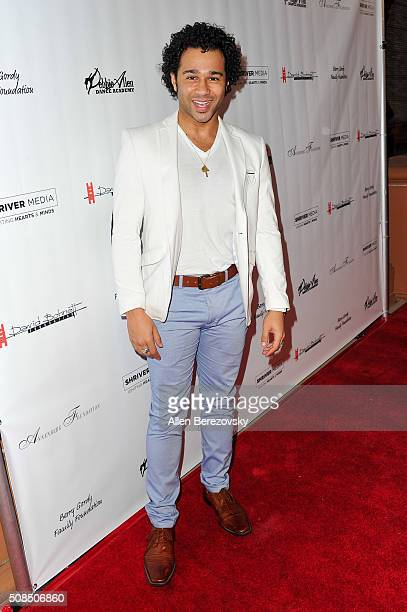 Actor Corbin Bleu attends the US Premiere of Debbie Allen's Freeze Frame at The Wallis Annenberg Center for the Performing Arts on February 4 2016 in...