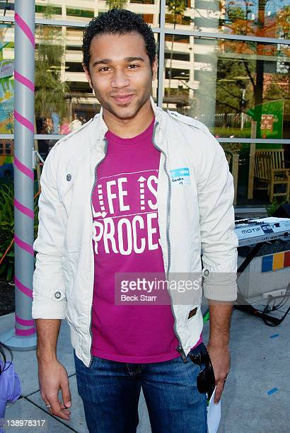 Actor Corbin Bleu attends Trueheart Events 1st annual All You Need Is Love Valentine's Day Party at Children's Hospital Los Angeles on February 14...