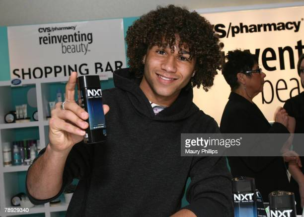 Actor Corbin Bleu with CVS at the Access Hollywood Stuff You Must Lounge Presented by On 3 Productions at Sofitel Hotel on January 12 2008 in Beverly...