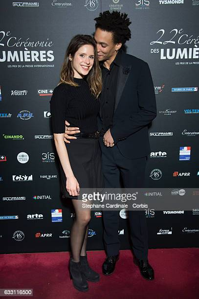 Actor Corentin Fila and guest attend the 22nd Lumieres Award Ceremony at Theatre de La Madeleine on January 30 2017 in Paris France