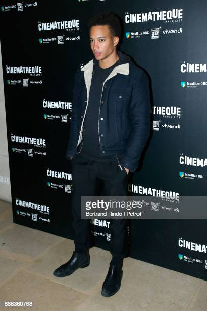 Actor Corentin Fila attends the Tribute to Roman Polanski Held with a Retrospective of the Director's Work at Cinematheque Francaise on October 30...