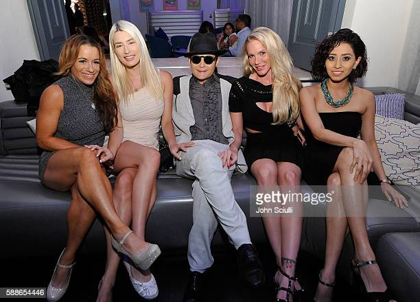 Actor Corey Feldman and friends attend STK Los Angeles 2016 anniversary party on August 11 2016 in Los Angeles California