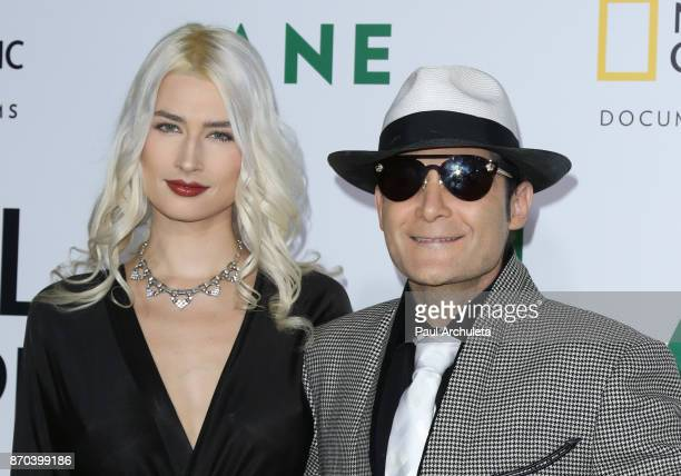Actor Corey Feldman and his Wife Courtney Anne Mitchell attend the premiere of National Geographic documentary films' 'Jane' at the Hollywood Bowl on...