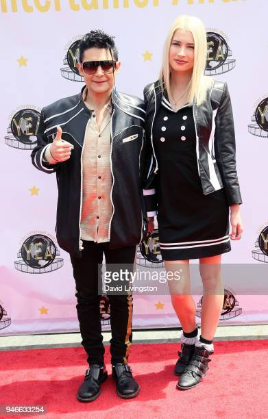Actor Corey Feldman and his wife model Courtney Anne Mitchell attend the 3rd Annual Young Entertainer Awards at The Globe Theatre on April 15 2018 in...