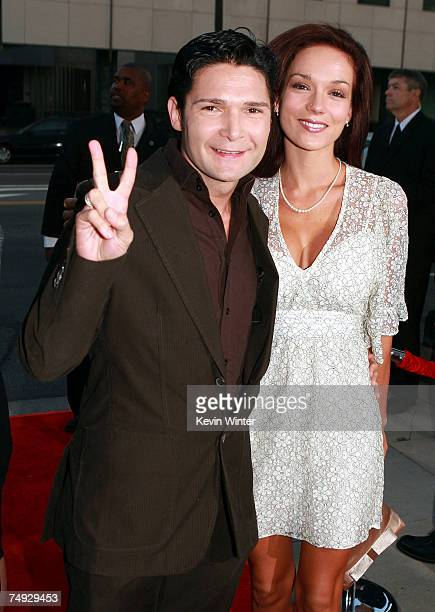 Actor Corey Feldman and his wife Susie arrive at a special screening of The Weinstein Company's SiCKO at the Samuel Goldwyn Theatre on June 26 2007...