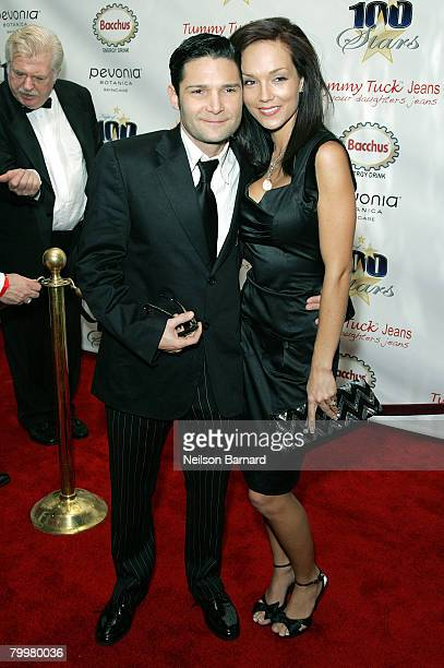Actor Corey Feldman and his wife Susie Feldman arrive at the 18th Annual Night Of 100 Stars Gala held at the Beverly Hills Hotel on February 24 2008...