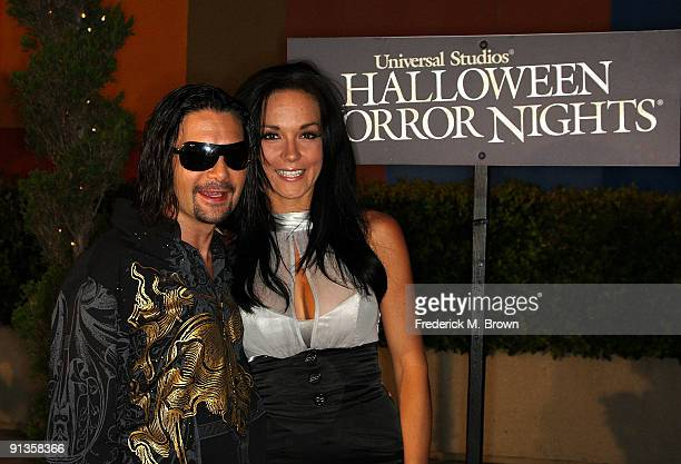 Actor Corey Feldman and his wife Susie Feldman attend the Universal Studios' Chiller Eyegore Awards Halloween Horror Nights KickOff at Universal City...