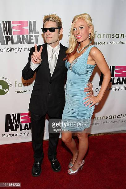 Actor Corey Feldman and Jessica Steward attend the Farm Sanctuary 25th Anniversary Gala at Cipriani Wall Street on May 14, 2011 in New York City.