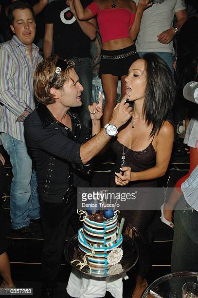 Actor Corey Feldman and Susie Feldman celebrate Corey's birthday at The Bank Nightclub at The Bellagio Hotel and Casino on July 18 2008 in Las Vegas...