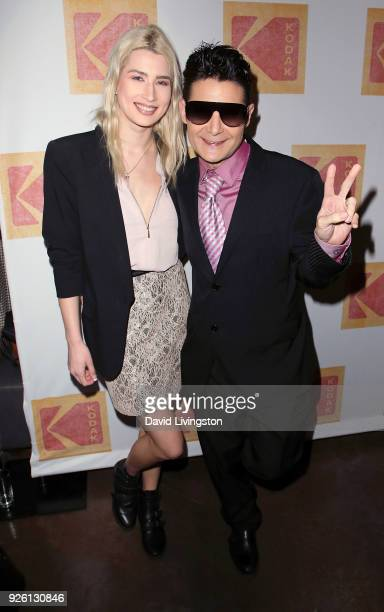 Actor Corey Feldman and wife Courtney Anne Mitchell attend the 2nd Annual Kodak Auteur Awards at Crossroads Kitchen on March 1 2018 in Los Angeles...