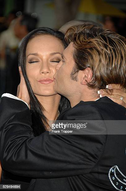 Actor Corey Feldman and wife Susie arrive at the premiere of Step Brothers held at Mann Village Theater in Westwood