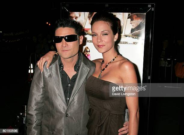 Actor Corey Feldman and wife Susie Feldman arrive at Overture Films' screening of Sleepwalking held at the Director's Guild of America on March 6...